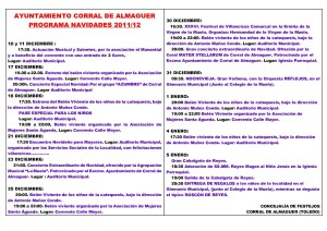 Programa de Navidad Corral de Almaguer