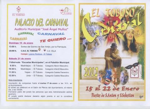 PROGRAMA CARNAVAL EL TOBOSO