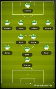 alineacion CF Almaguer vs Albiceleste