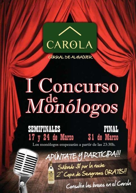 1º Concurso de Monólogos CAFÉ CAROLA