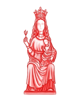 Virgen Romanica sin cara