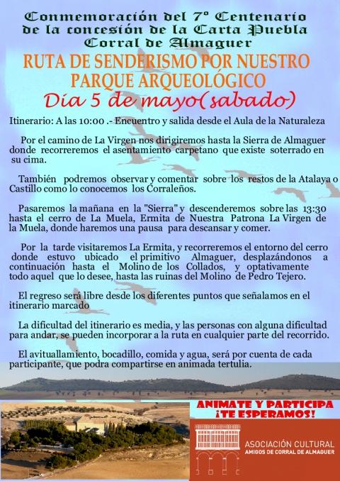 RUTA SENDERISMO PARQUE ARQUEOLÓGICO SIERRA DE GOLLINO