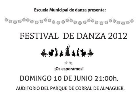 FESTIVAL DE DANZA DOMINGO 10 A LAS 9,30