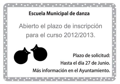 ABIERTO PLAZO DE INSCRIPCIÓN PARA EL CURSO 2012/2013