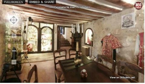 VISTAS 360 DEL MUSEO DEL SACRISTAN, YACIMIENTO DE LA ANTIGUA TORRE, Y LA PLAZA