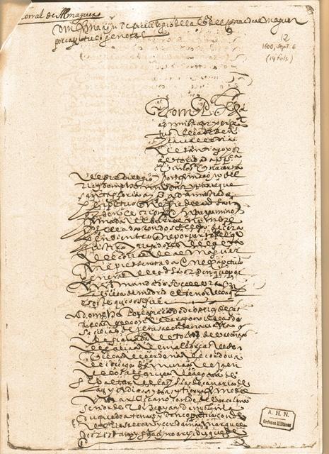 Confirmación de la Carta Puebla del año 1600 por el rey Felipe III