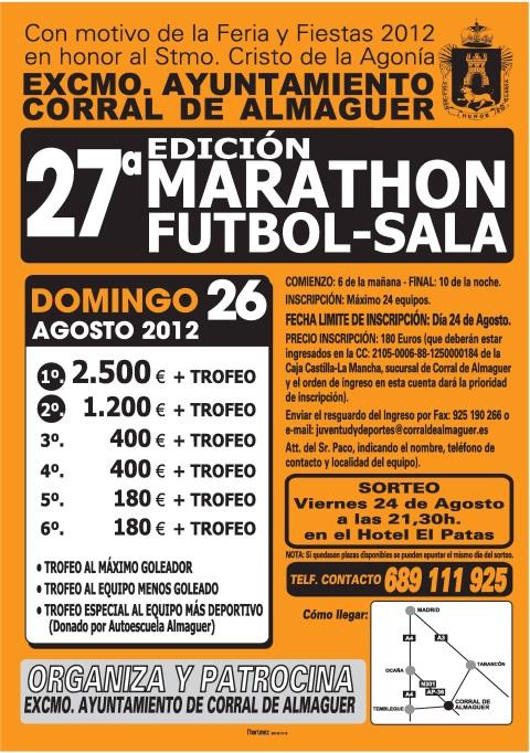 MARATON FUTBOL SALA CORRAL DE ALMAGUER 2012