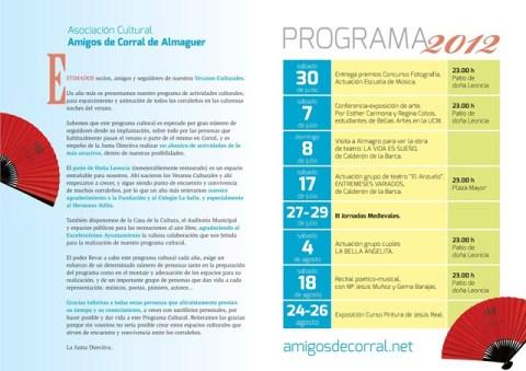 programa veranos culturales 2012