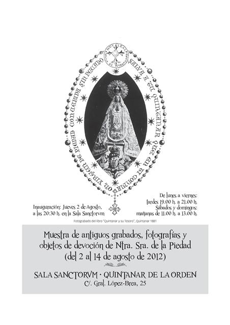 Muestra de antiguos grabados y fotografías de Ntra. Sra. de la Piedad de Quintanar de la Orden-1