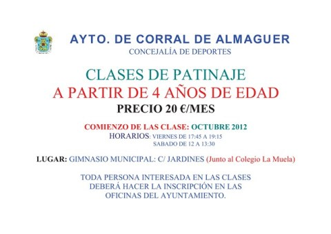 CLASES DE PATINAJE EN CORRAL DE ALMAGUER