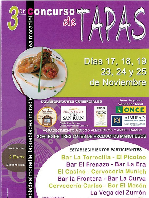 III Jornadas de la tapa Puebla de Almoradiel