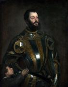 Alonso Dávalos II Marqués del Vasto, pintado por Tiziano (Fundación Getty de Los Ángeles)