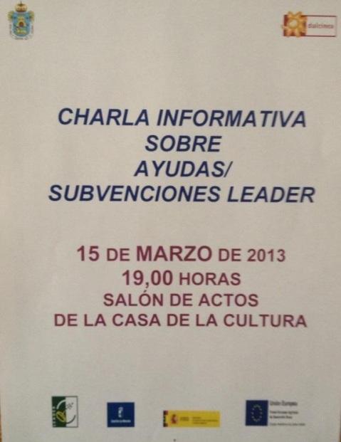 CHARLA INFORMATIVA LEADER
