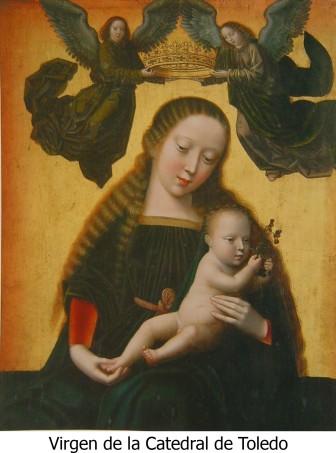 Virgen de Cisneros con pie de foto